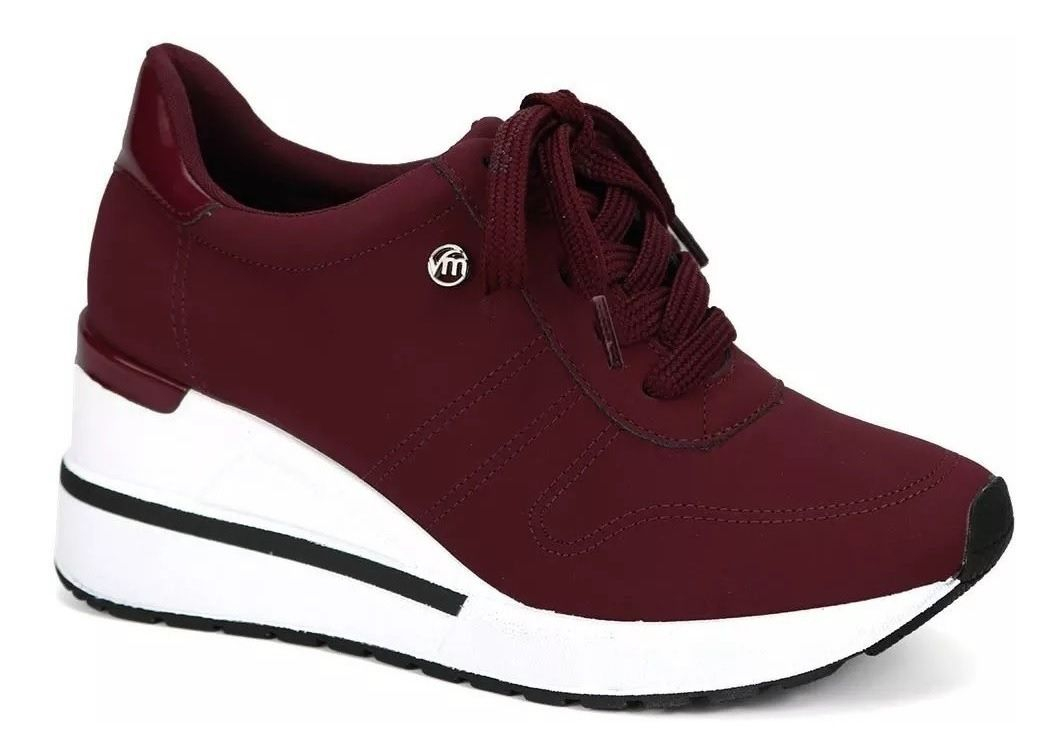 Tênis Via Marte Feminino 19-3302 Sneaker Vinho