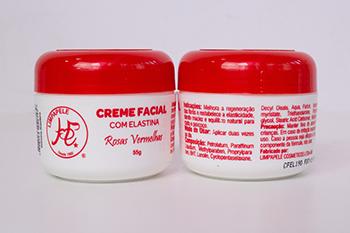 Creme Facial com Elastina Rosas Vermelhas - 55g