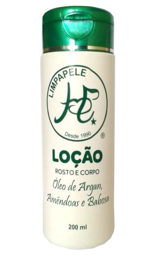 Loção Rosto e Corpo -  Óleo de Argan, Amêndoas e Babosa - 200 ml