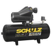 Compressor de Ar AUDAZ de Pistão 20 Pés 200 Litros c/ Chave de Partida - Schulz