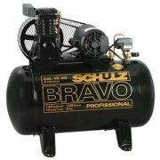 Compressor de Ar Bravo CSL 10BR/100 2hp 220V Trifásico - Schulz