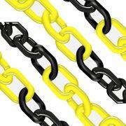 Corrente Plástica -  Amarela e Preta