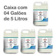 Kit c/ 4 Galões de Álcool Em Gel 70% Antisséptico de 5 Litros - Henlau Sunlau