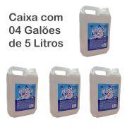 Kit c/ 4 Galões de Álcool Em Gel 70% Antisséptico Hipoalergênico de 5 Litros - Ares