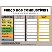 Placa de Valores Aproximados Aplicativo Tributos/Combustíveis ANP - Decreto N 10.634