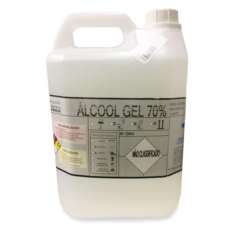 Álcool Em Gel 70% Antisséptico - Galão de 5 Litros