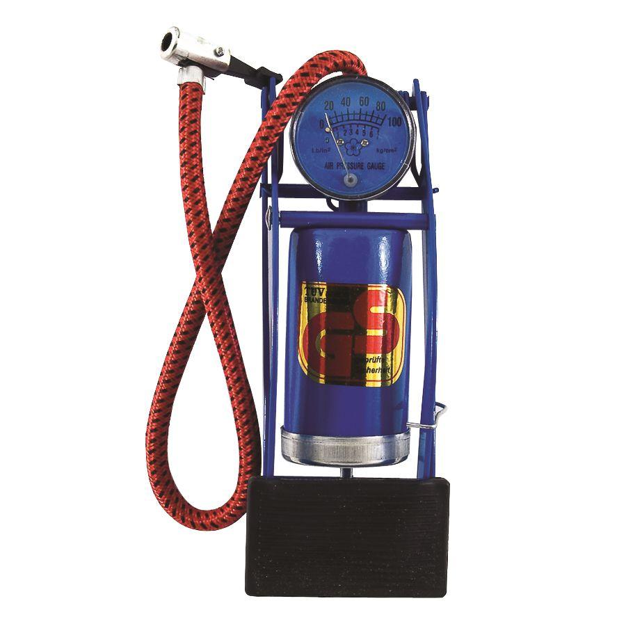 Bomba de Ar c/ Pedal e Manômetro