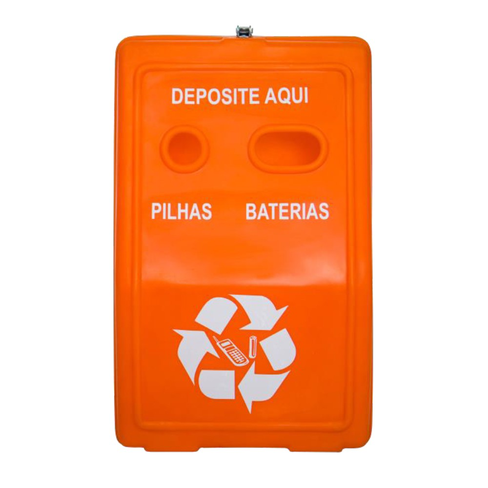 Coletor de Pilhas e Baterias c/ Divisória Interna - 30 Litros