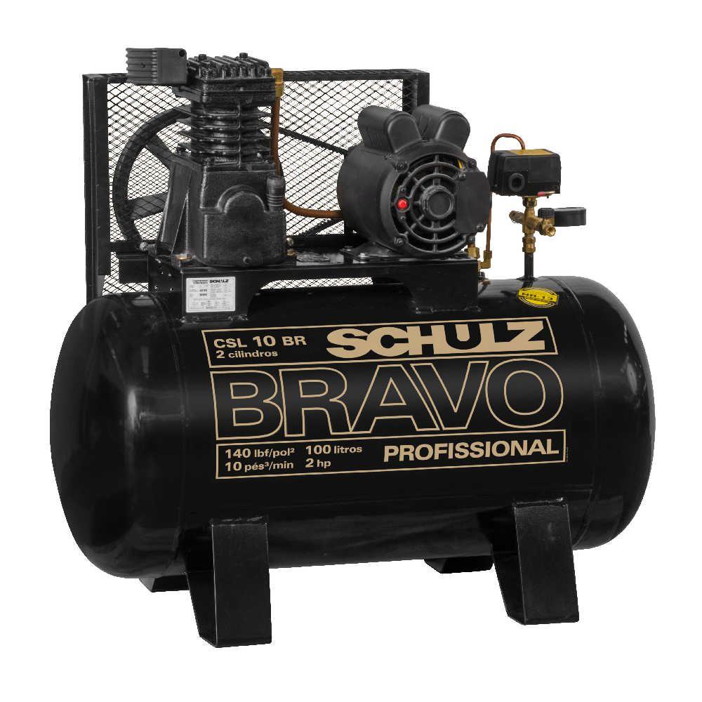 Compressor de Ar Bravo CSL 10BR/100 2hp 220V Monofásico - Schulz
