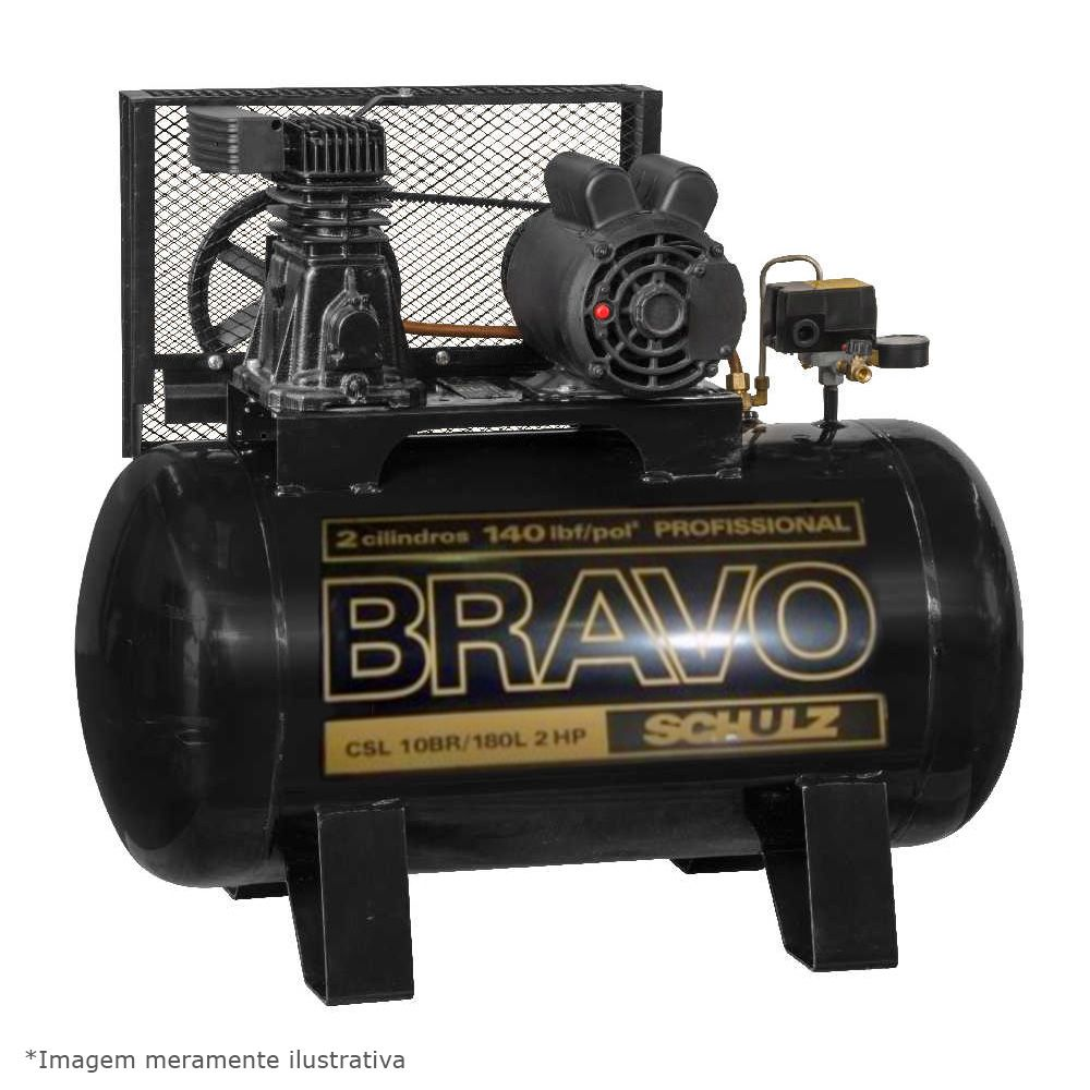 Compressor de Ar Bravo CSL 10BR/180 2hp 220V Trifásico - Schulz