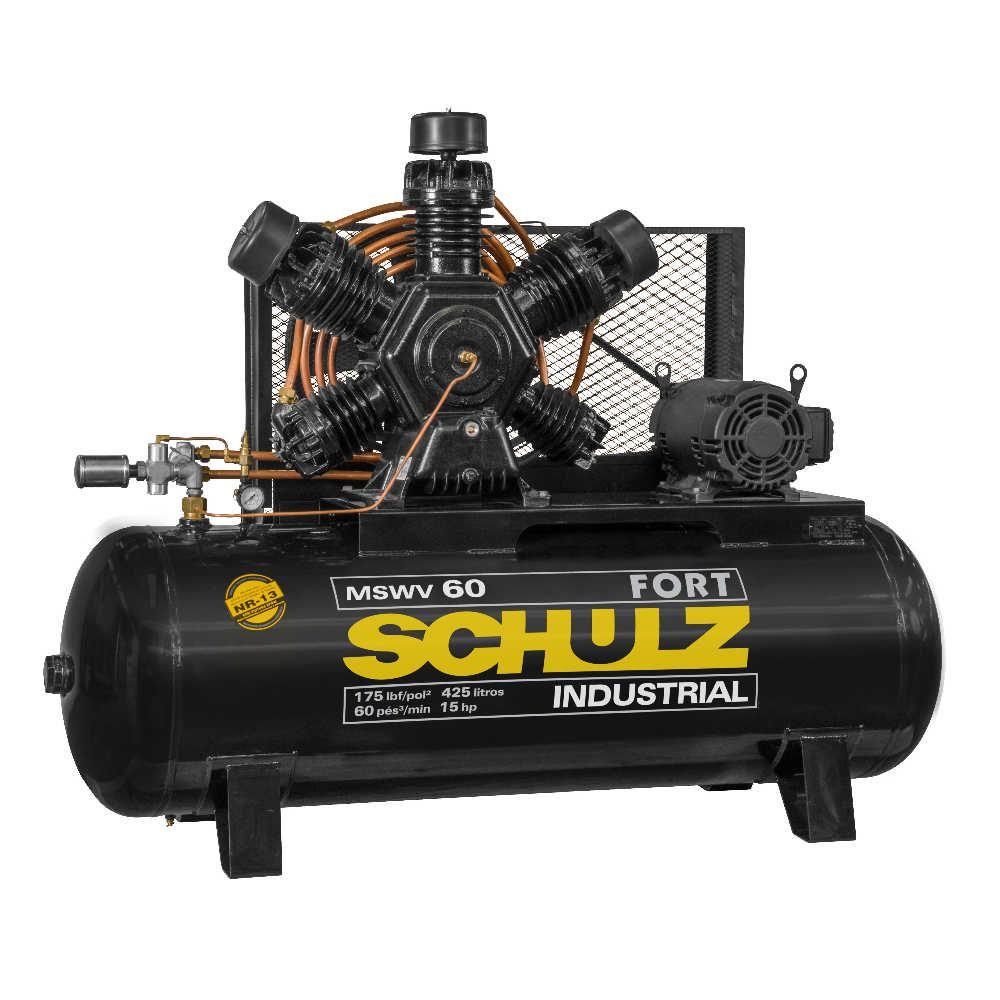 Compressor de Ar Fort MSWV 60/425 15hp 220/380V Trifásico - Schulz