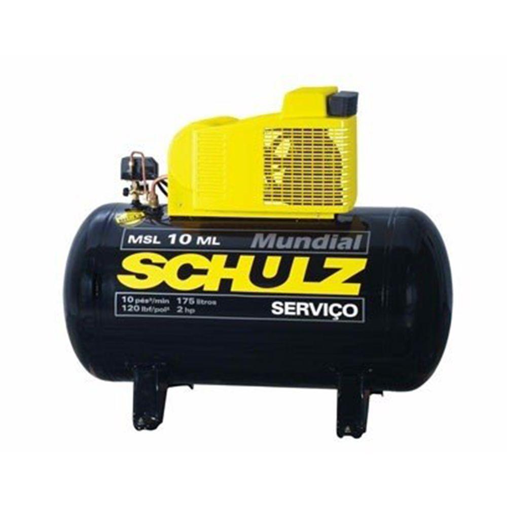 CÓPIA - Compressor de Ar Mundial MSL 10 ML/175 2hp 220V Trifásico - Schulz