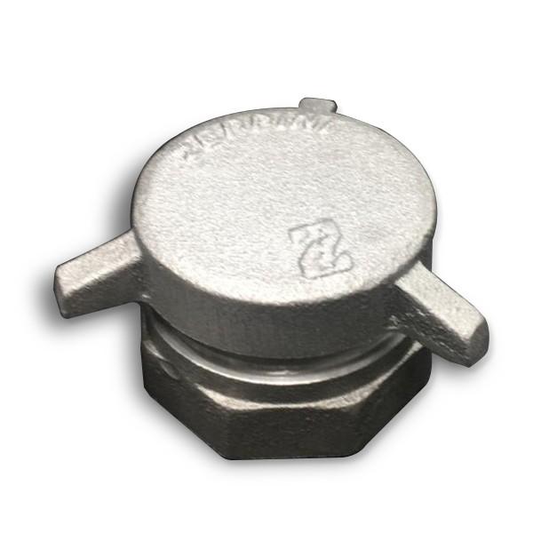 "Dispositivo de Descarga Selada 2x2"" p/ Medição (Tampa Tanque) - Alumínio"