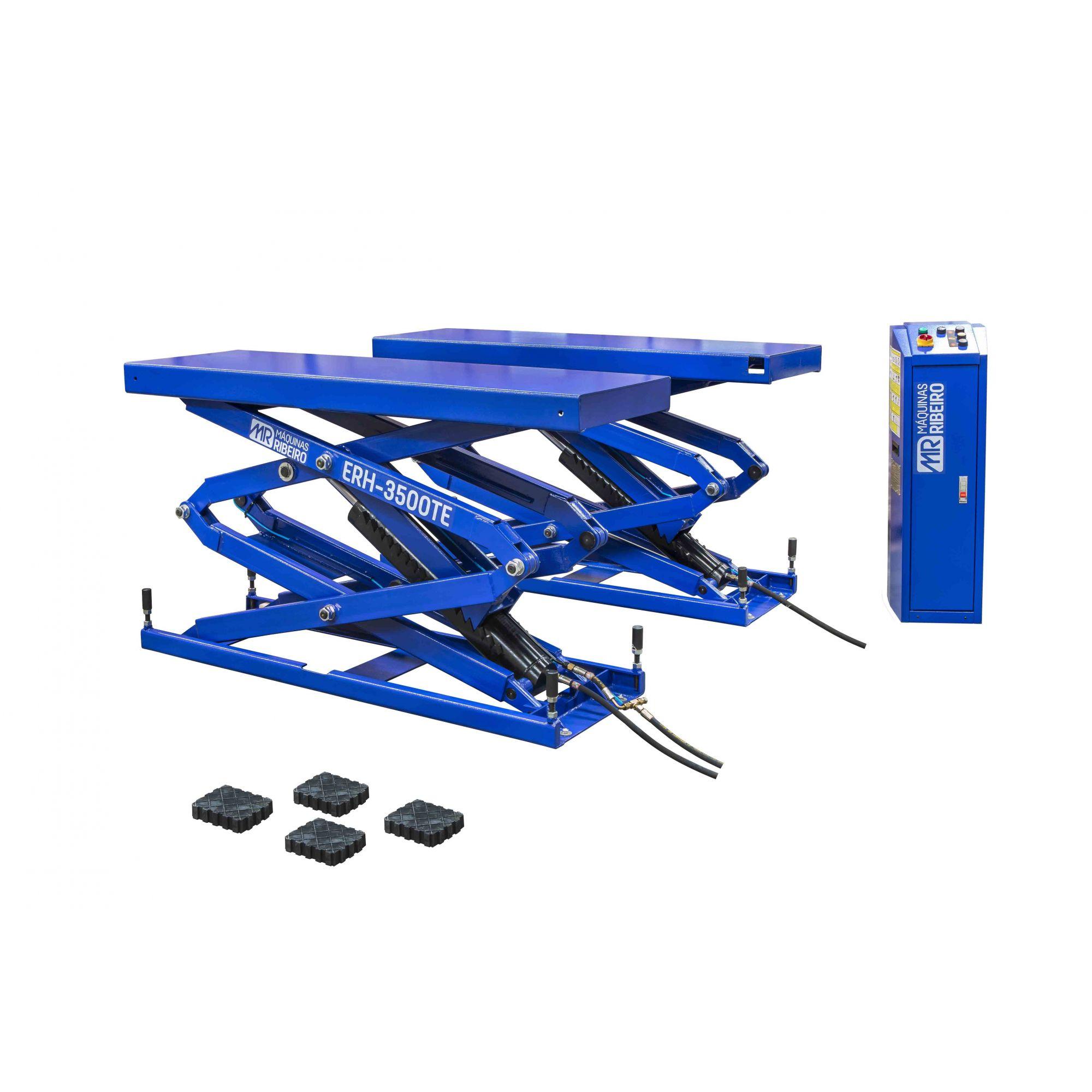 Elevador Automotivo Hidráulico Pantográfico de Embutir | 3.500 Kg | 220V Monofásico - Máquinas Ribeiro