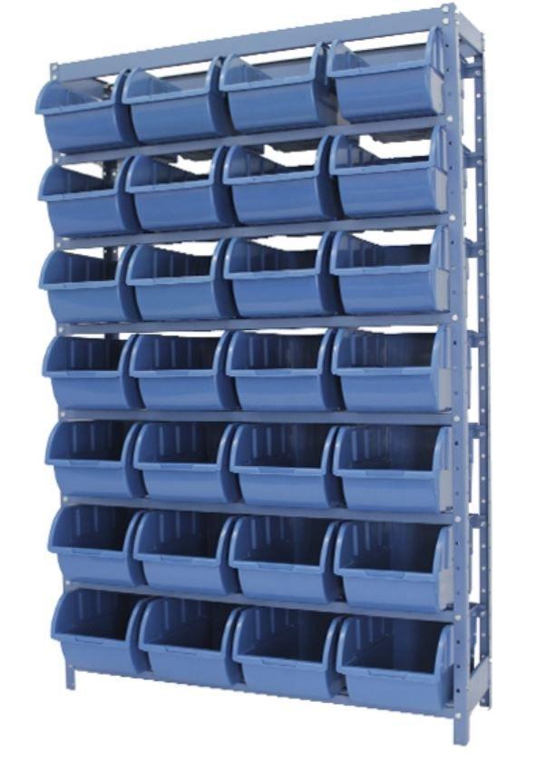 Estante Porta-Componentes p/ 28 Caixas de 5kg - Nocram