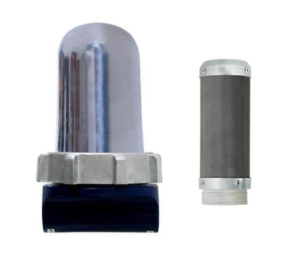 Filtro de Linha p/ Diesel   Cúpula de Alumínio - Elemento Inox  FP200 AI - Filpar