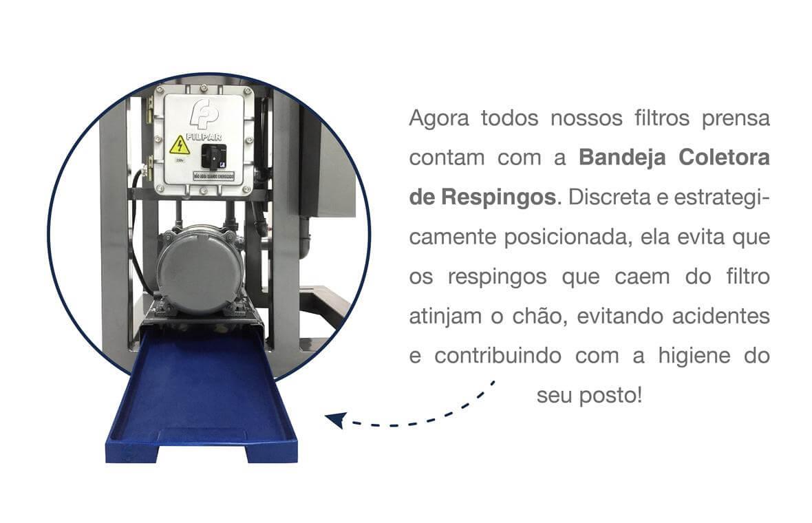 Filtro Prensa c/ Reservatório Duplo p/ Óleo Diesel - 22.000 L/H