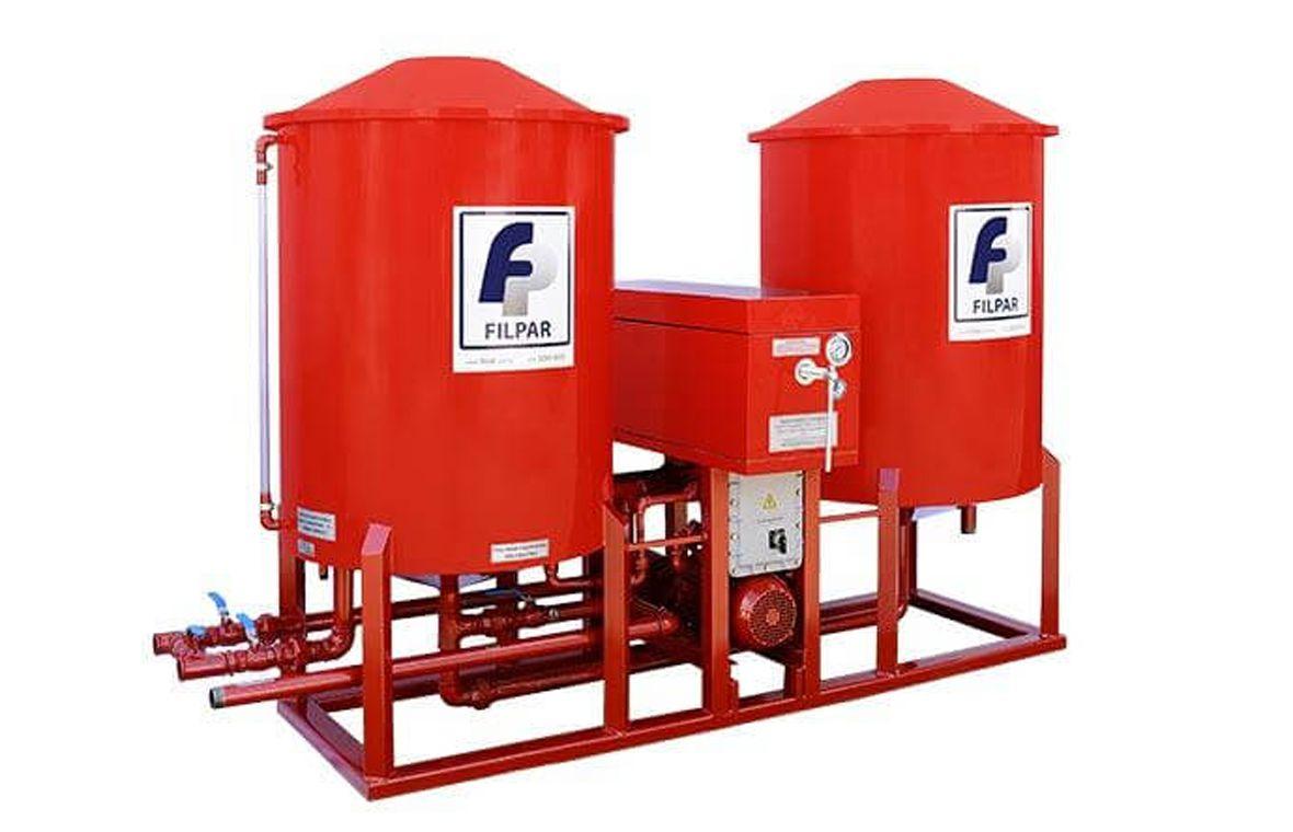 Filtro Prensa c/ Reservatório Duplo p/ Óleo Diesel - 11.000 L/H