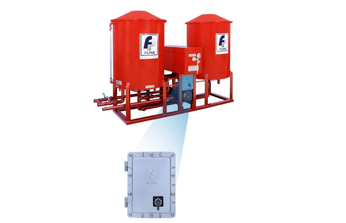 Filtro Prensa c/ Reservatório Duplo p/ Óleo Diesel - 14.000 L/H