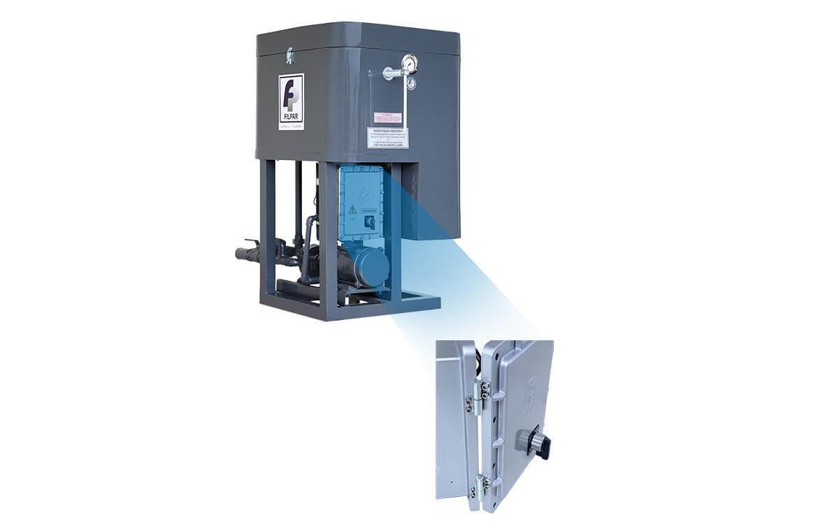 Filtro Prensa Mod. PISTA p/ Óleo Diesel - 6.000 L/H - FP-II