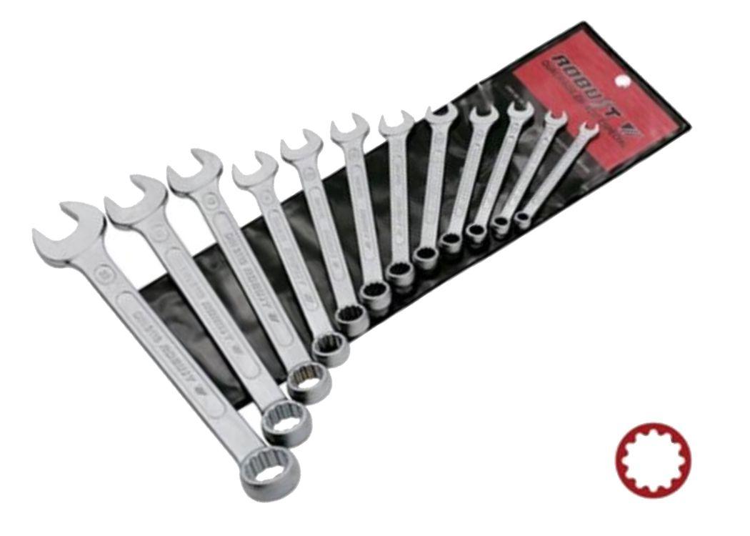 Jogo de Chave Combinada (Boca/Estrela) 15 peças 6 a 32mm - Robust