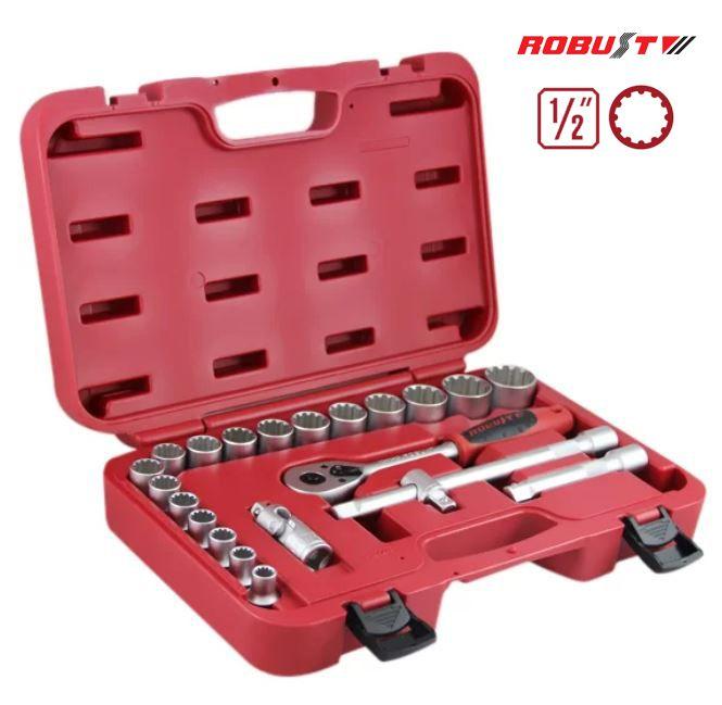 Jogo de Soquetes Multi-Lock c/ 22 peças - Robust