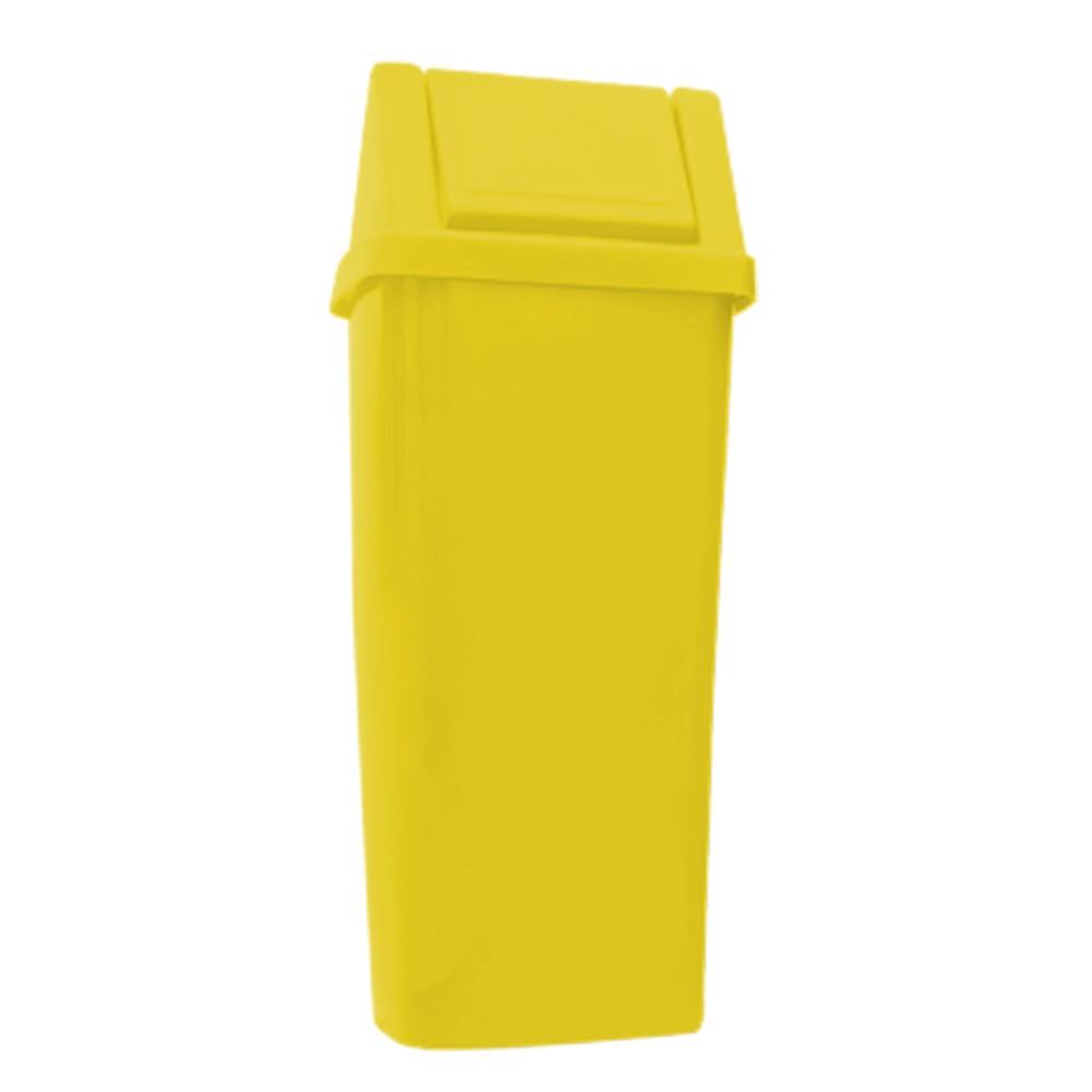 Lixeira 100 Litros c/ Tampa Vai e Vem - Amarelo