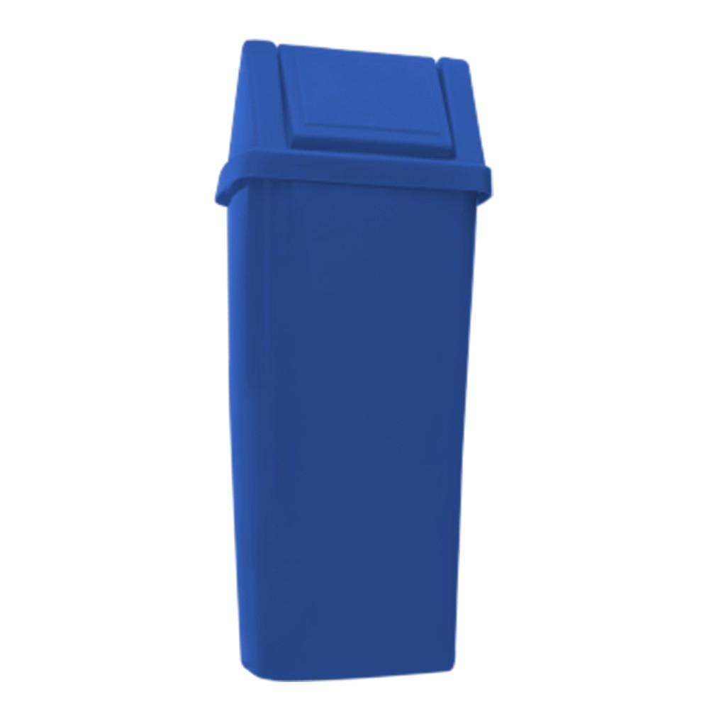 Lixeira 100 Litros c/ Tampa Vai e Vem - Azul