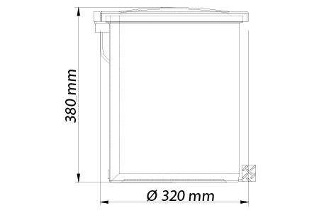 Lixeira 20 Litros c/ Pedal Galvanizado - Cinza