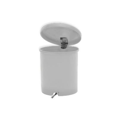 Lixeira 30 Litros c/ Pedal Galvanizado - Cinza