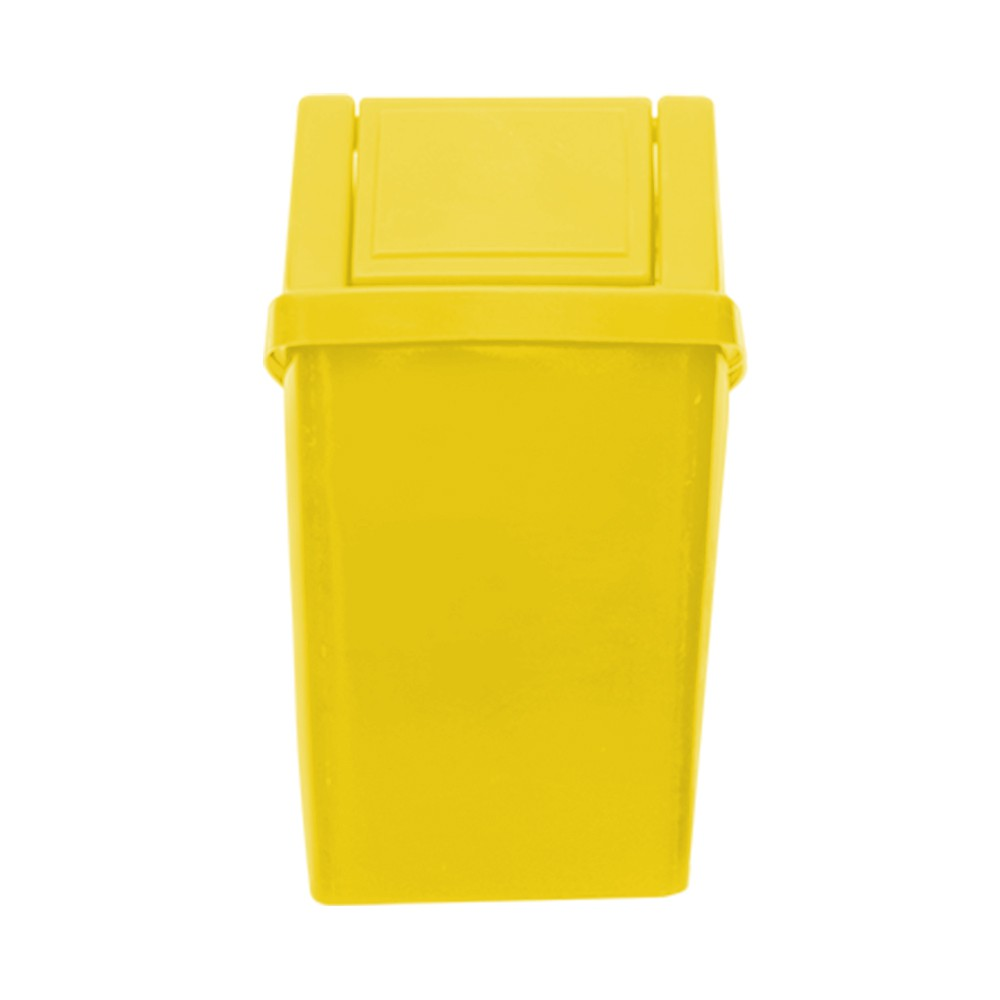 Lixeira 40 Litros c/ Tampa Vai e Vem - Amarelo