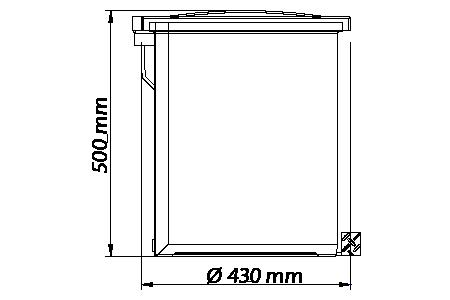 Lixeira 50 Litros c/ Pedal Galvanizado - Cinza