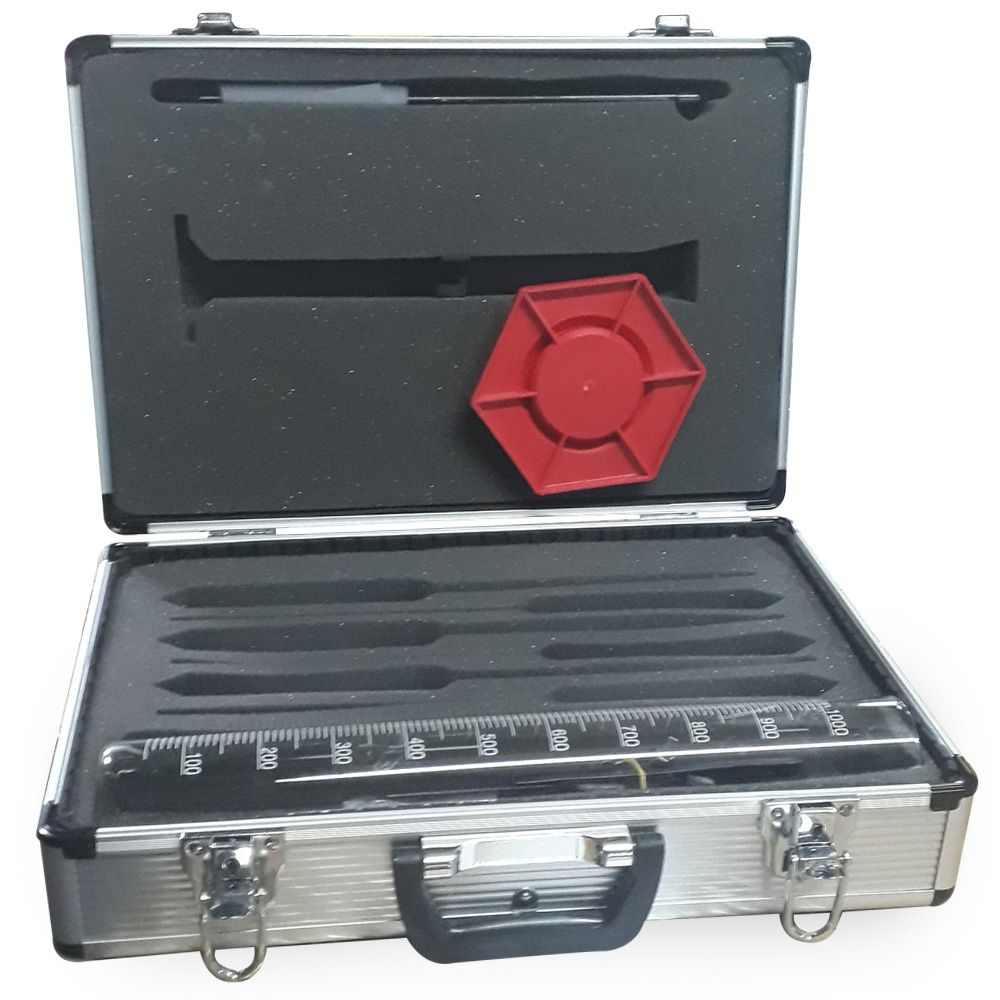 Maleta/ Kit de Análise p/ Combustíveis - 9 Itens