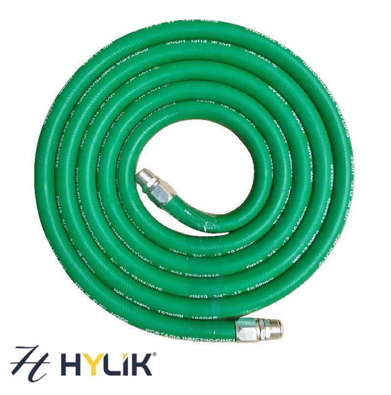 """Mangueira Colorida p/ Abastecimento de Combustível de 3/4""""   5 metros   Verde - Hylik"""