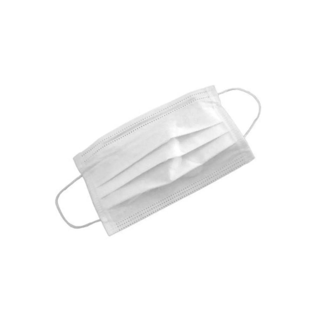 Máscara Descartável c/ Tripla Camada Branca - 10 un