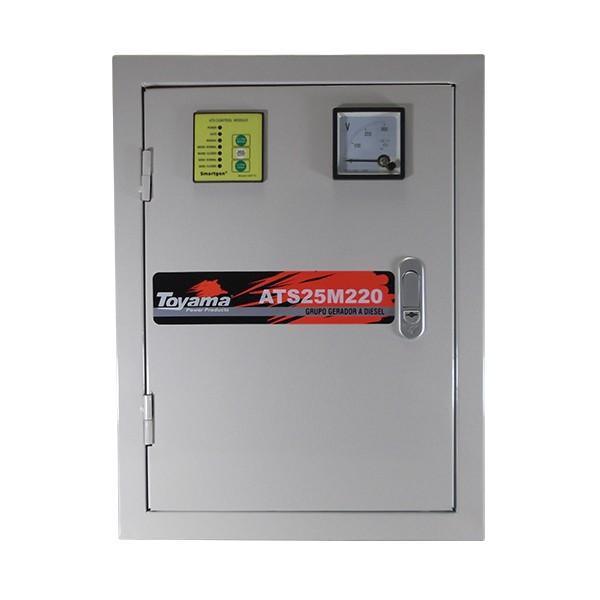 Painel ATS ATS25M220 220V Mono p/ Gerador TD25SGE c/ controlador HAT560