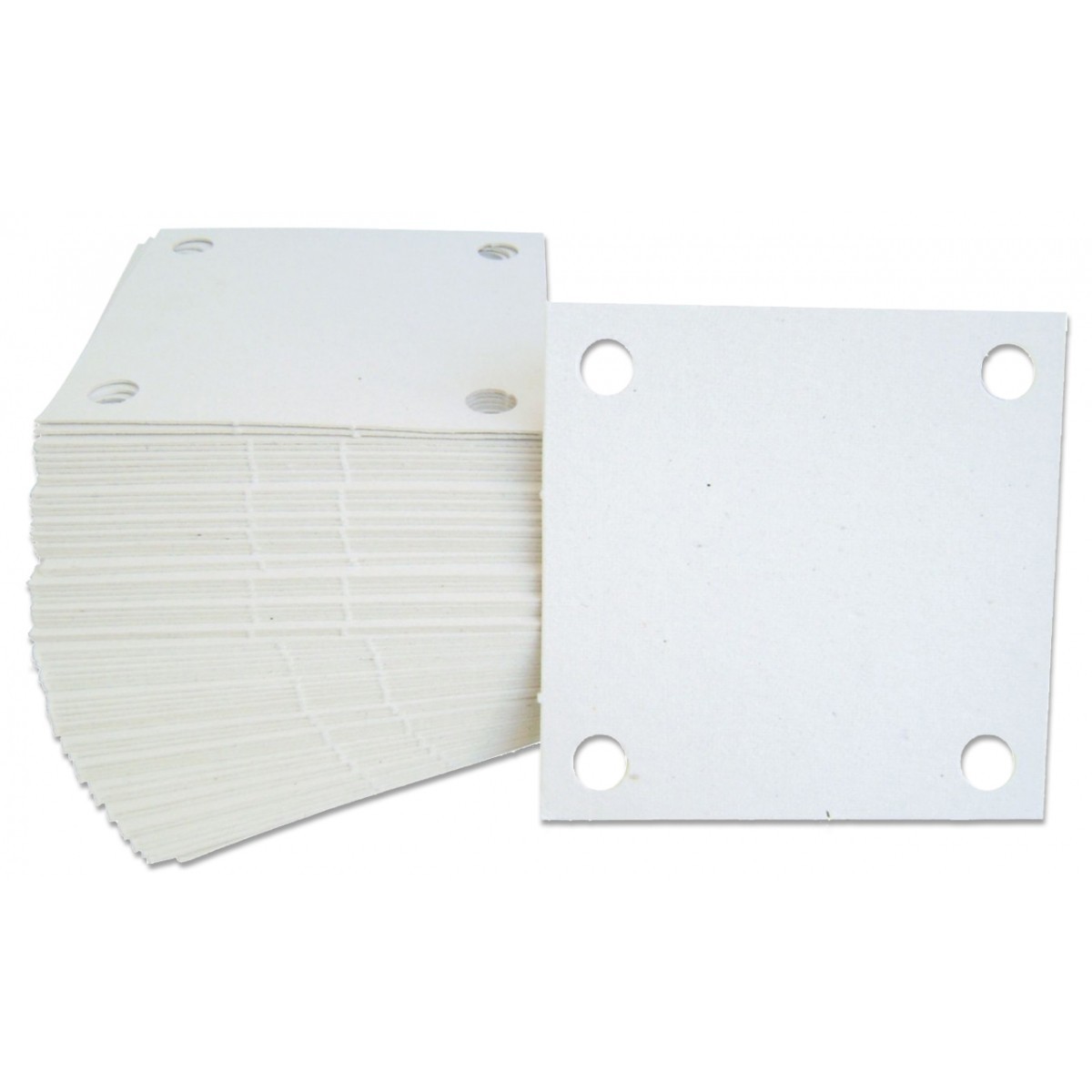 Papel Filtrante Quadrado 7x7 com 4 Furos (10KG)