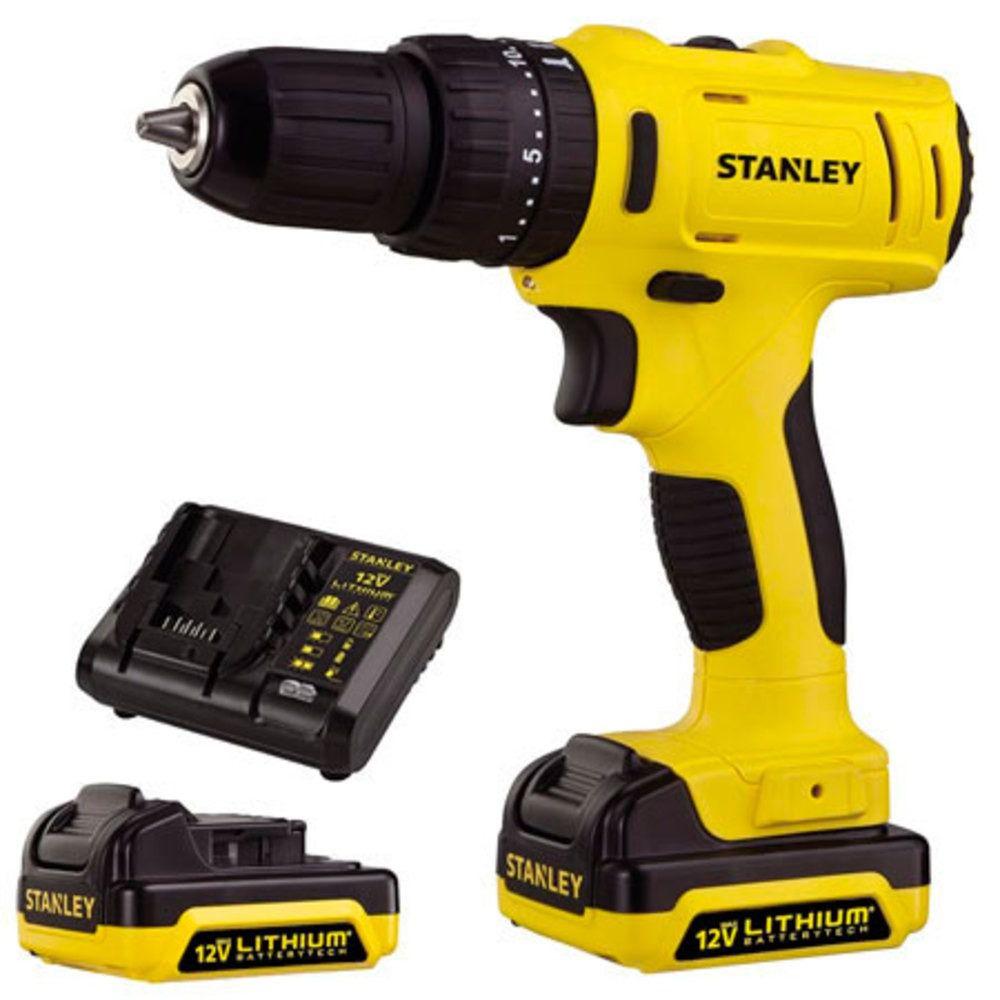 Parafusadeira/Furadeira de Impacto c/ Maleta | 3/8'' (10mm) | 2 Baterias 12V Bivolt | 26Nm - Stanley