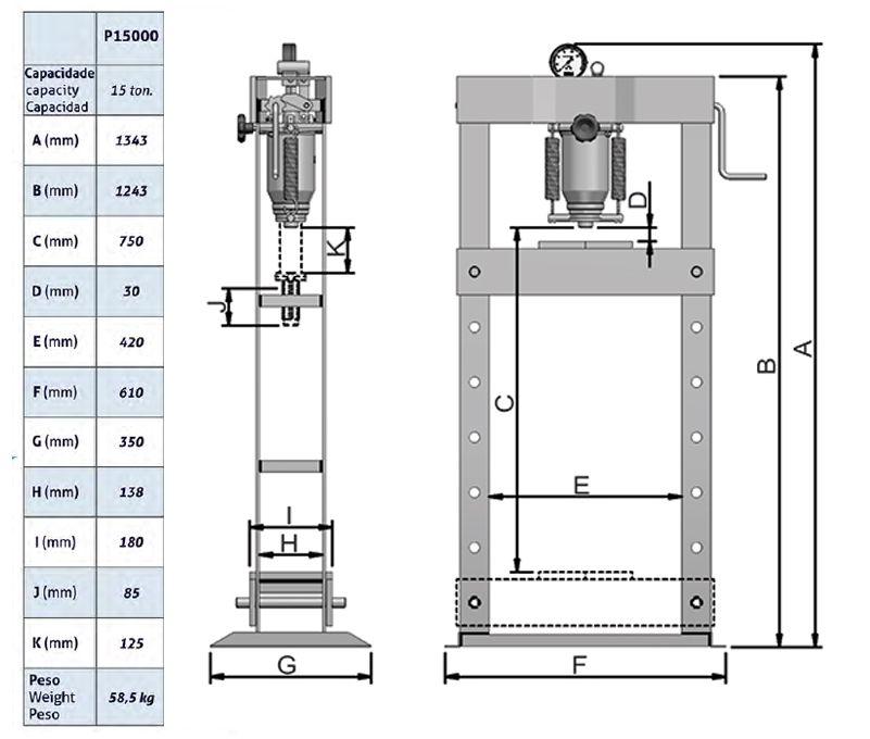 Prensa Hidráulica | 15 toneladas - Bovenau