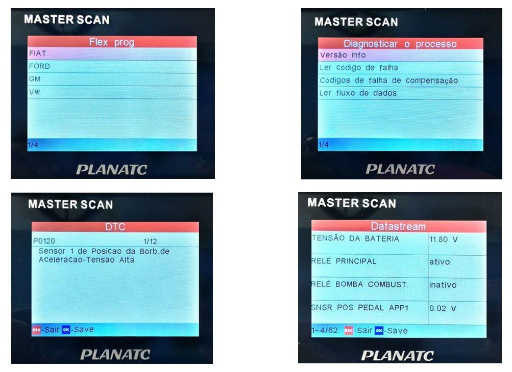 Scanner Automotivo p/ Análise de Motor/ Transmissão (A/T)/ ABS/ Airbag - Planatc