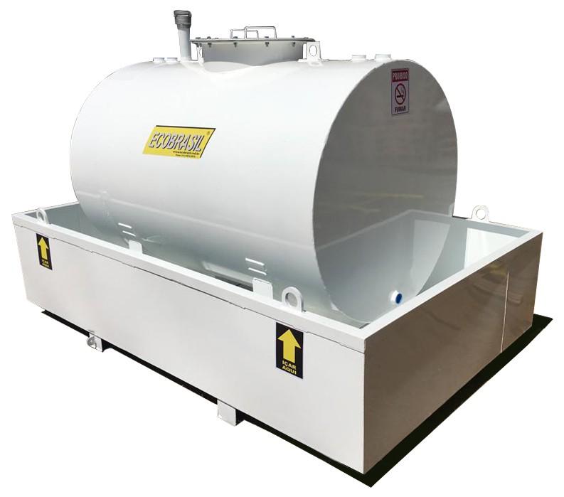 Tanque Aéreo para Combustíveis e Geradores c/ Bacia de Contenção - 250 Litros