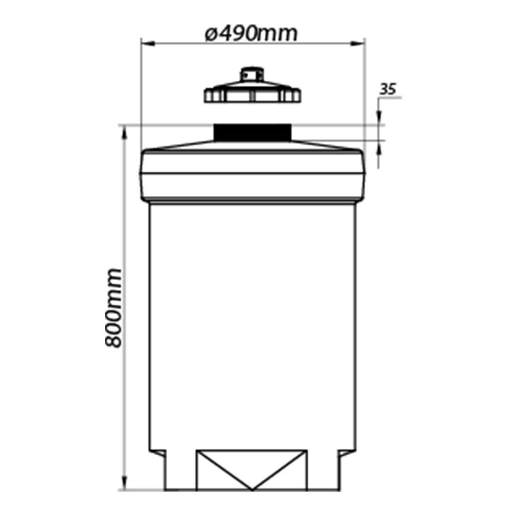 Tanque Aéreo Vertical 100 Litros - Polietileno (PE)