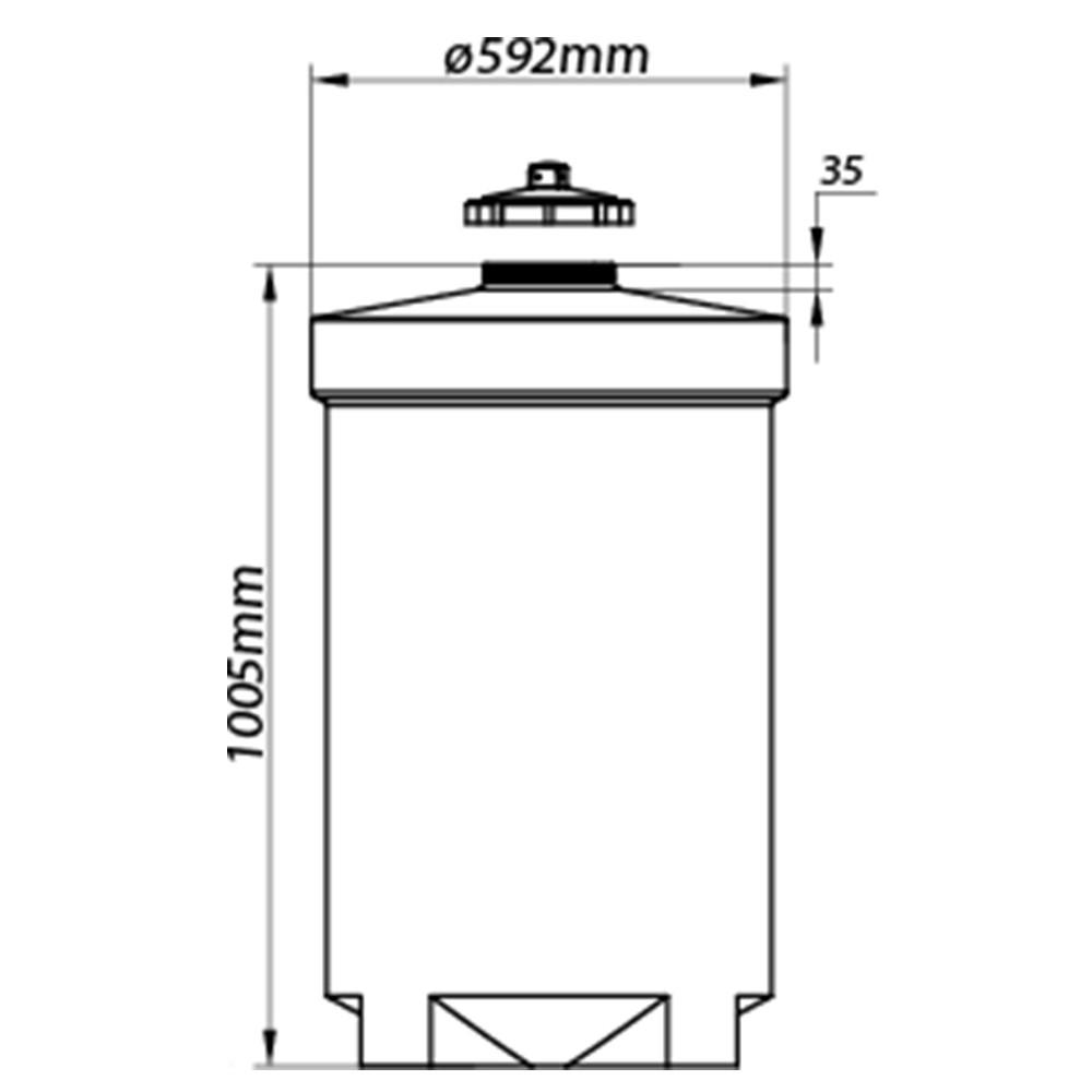 Tanque Aéreo Vertical 200 Litros - Polietileno (PE)