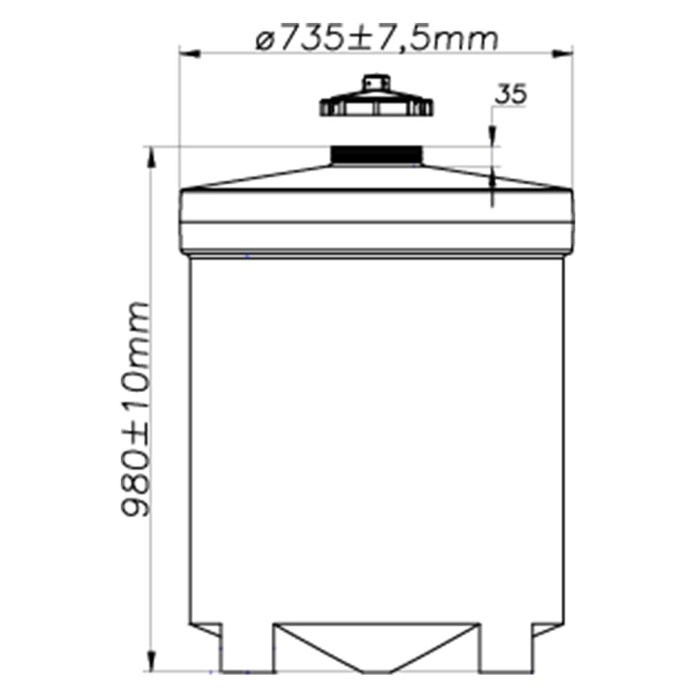 Tanque Aéreo Vertical 300 Litros - Polietileno (PE)