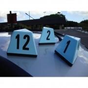 Prisma Automotivo Triangular Numerico Imantado Para Estacionamento - Maki
