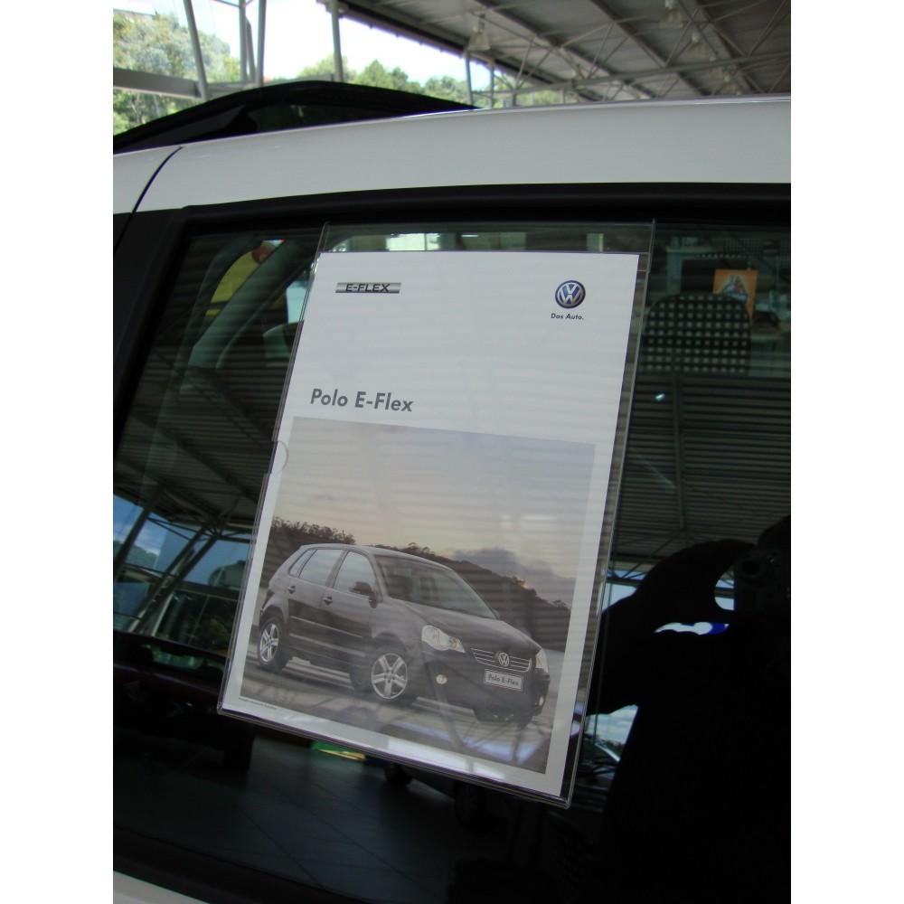 Display Acrilico Vidro de Carro para Ficha Técnica Folha A4 - Maki