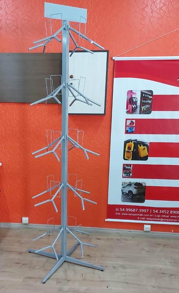 Expositor Para Capacetes Modelo Giratório Capacidade 20 Capacetes - Maki