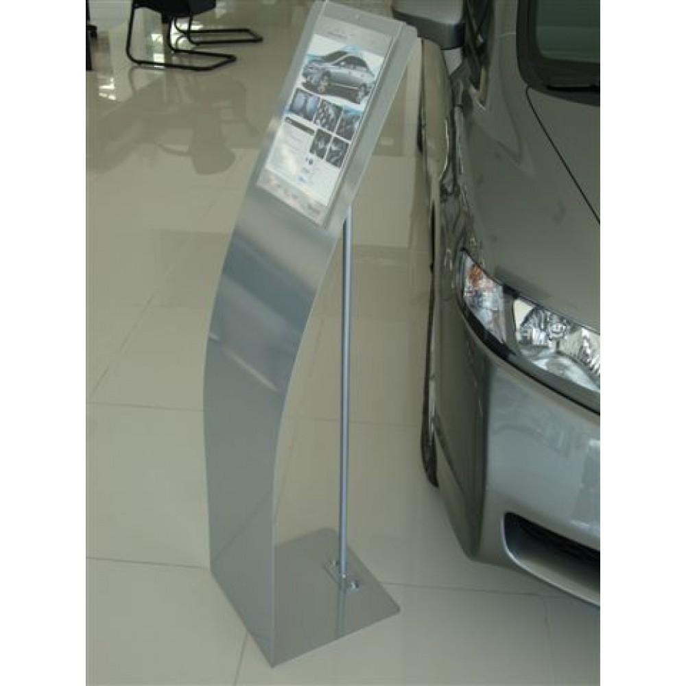 Porta Folder Chapa de Aço 1,5mm Cor Prata - Maki