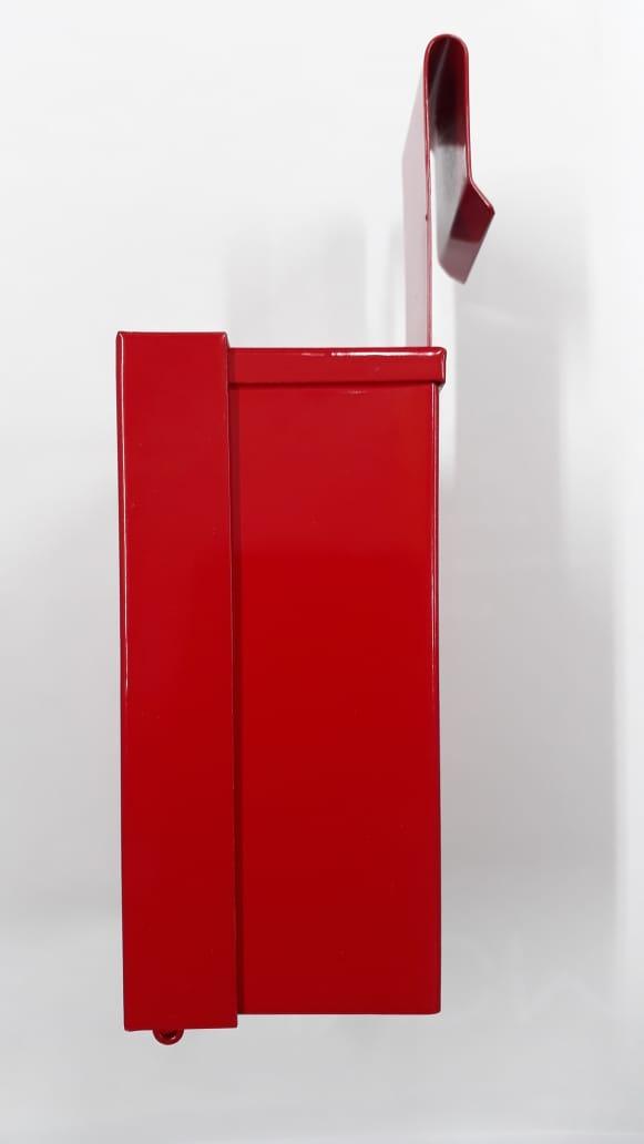 Caixinha Porta Chaves em Alumínio Com Pintura Epóxi