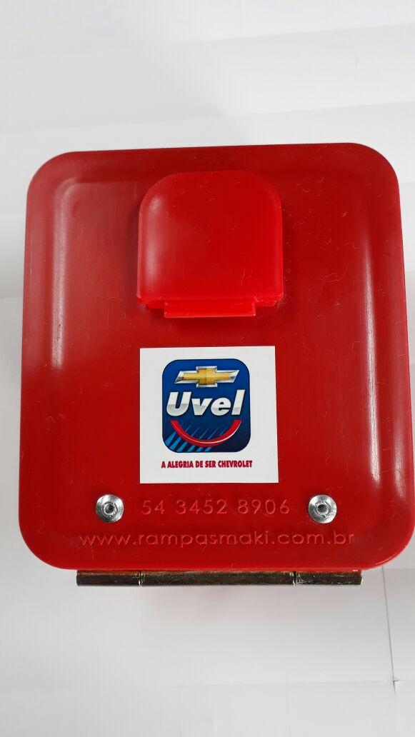 Caixinha Porta Chave com Dobradiça em Aço e Proteção UVA, UVB e UVC- Maki